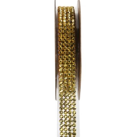 Ruban strass autocollant or 15 mm x 1 M