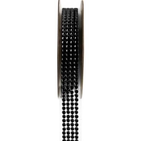 Ruban strass autocollant noir 15 mm x 1 M
