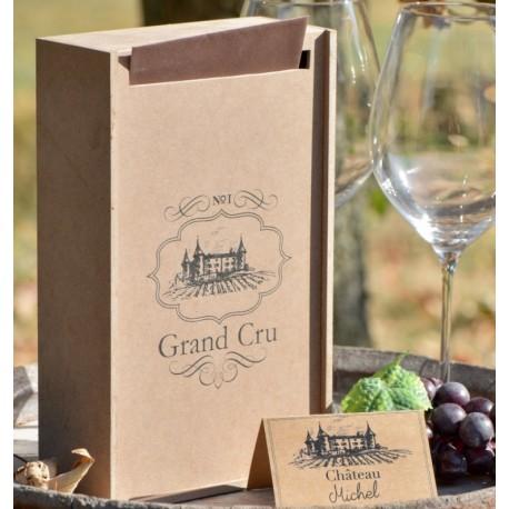 Tirelire viticole bois kraft naturel 25 cm