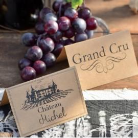 Marque place viticole carton kraft naturel les 10