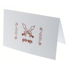 Carte invitation pirate bleu ciel les 6
