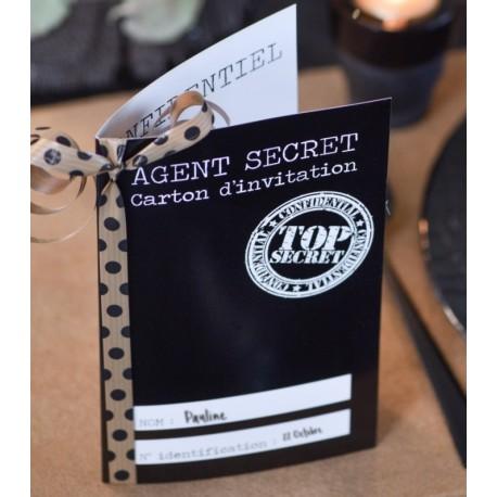Carte invitation agent secret les 10