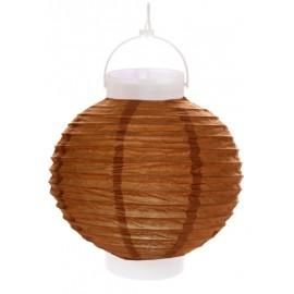 Lampion lumineux boule papier chocolat 20 cm