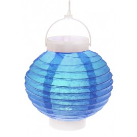 Lampion lumineux boule papier turquoise 20 cm
