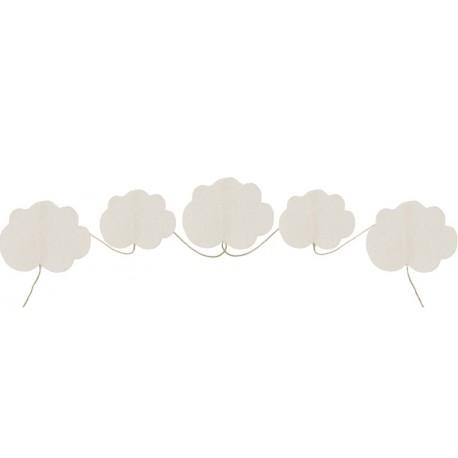 Guirlande nuage coton naturel 150 cm