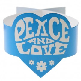 Ronds de serviette hippie turquoise les 6