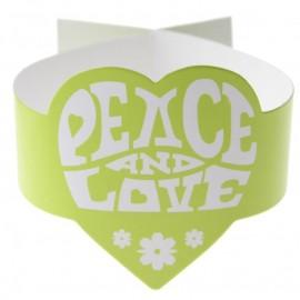 Rond de serviette hippie vert anis les 6