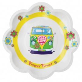 Assiette carton hippie flower power 19.5 cm les 10