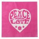 Serviettes de table hippie fuchsia papier les 20