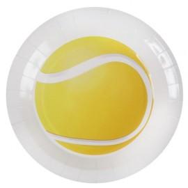Assiette carton balle de tennis 22.5 cm les 10