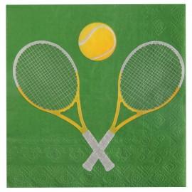 Serviette de table tennis papier les 20