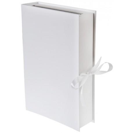 Tirelire livre blanc carton 30 x 20 cm