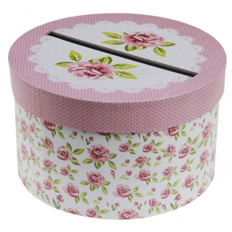 Tirelire liberty shabby chic carton 20 cm