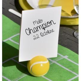 Marque-table balle de tennis