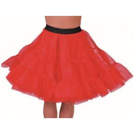 Déguisement jupon rouge en tulle à volants femme luxe