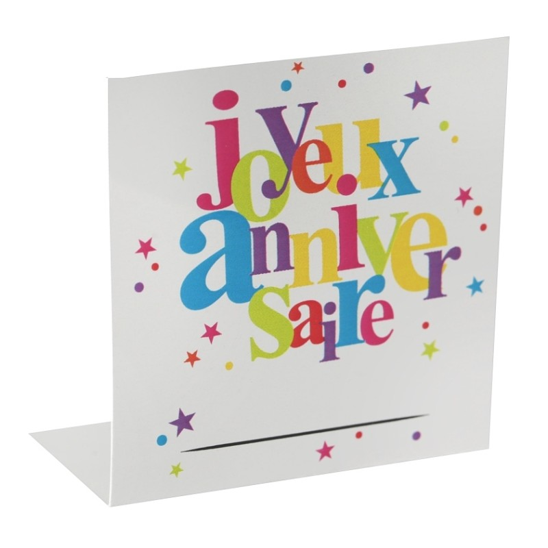 marque place joyeux anniversaire carton les 10 d co anniversaire. Black Bedroom Furniture Sets. Home Design Ideas