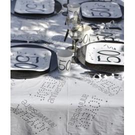 Nappe plastique anniversaire 132 x 220 cm