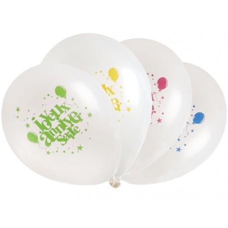 Ballons joyeux anniversaire 23 cm les 8