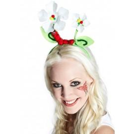 Serre-tête fleurs avec chenille femme