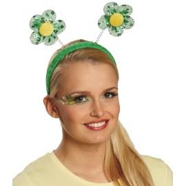 Serre-tête fleurs vertes femme