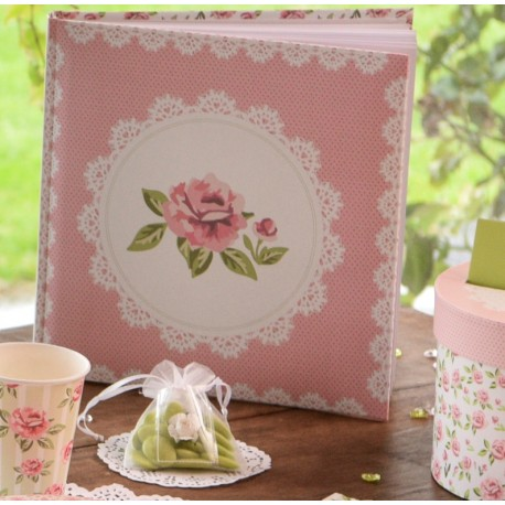 Livre d'or liberty shabby chic