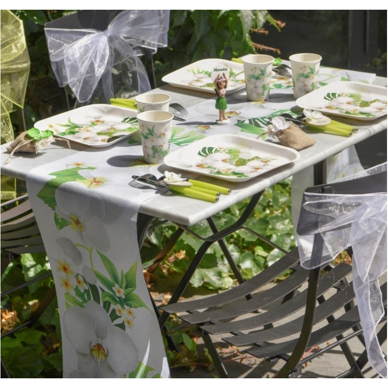 Chemin de table orchid e en intiss 5 m achat chemins de for Chemin de table plastique