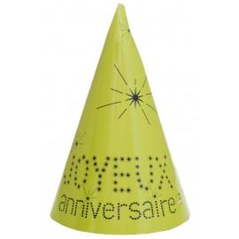 Chapeau joyeux anniversaire carton vert les 10