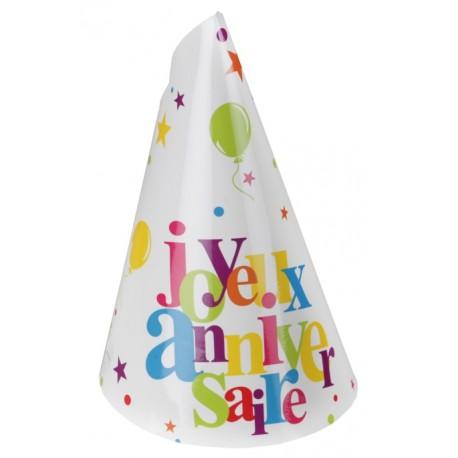 Chapeau joyeux anniversaire carton les 10