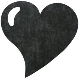 Sets de Table Coeur Noir Intissé Les 50