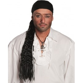 Bandana de pirate avec tresses homme