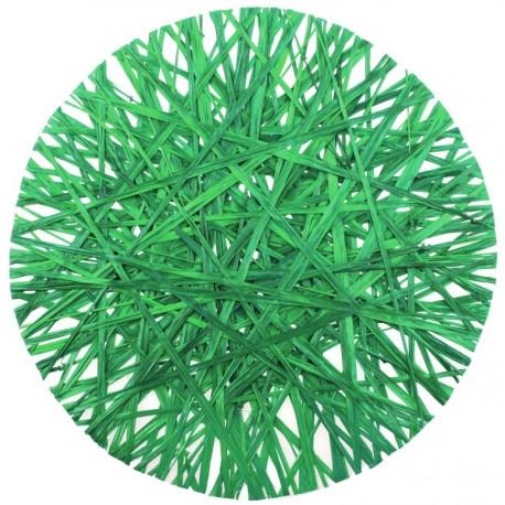 Set de table raphia vert 34 cm les 4