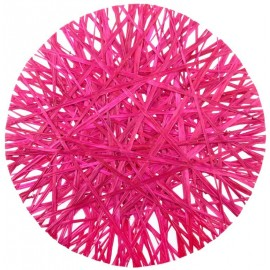 Sets de table raphia fuchsia 34 cm les 4
