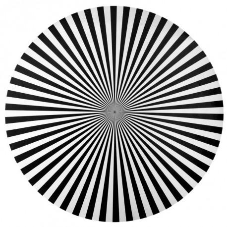 Set de table rayé noir rond 34 cm les 6