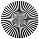 Sets de table rayés noirs ronds 34 cm les 6