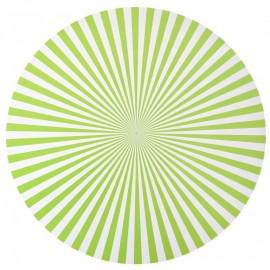Set de table rayé rond vert anis 34 cm les 6