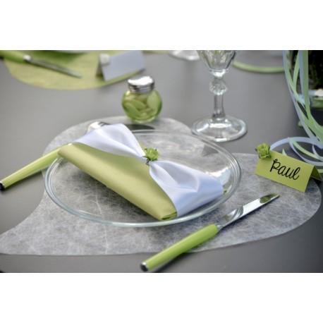 Set de table coeur fanon blanc 38 cm les 6