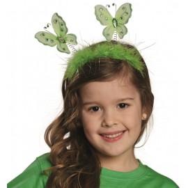 Serre-tête papillon vert adulte et enfant