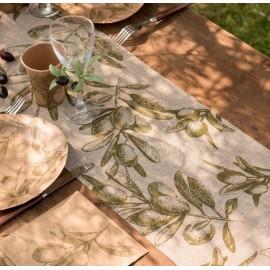 Chemin de table provençal naturel 3 M