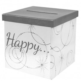 Tirelire Happy carton 20 cm