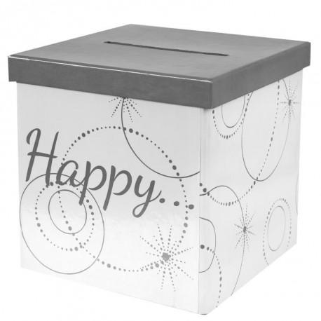 Tirelire Happy carton 20 cm