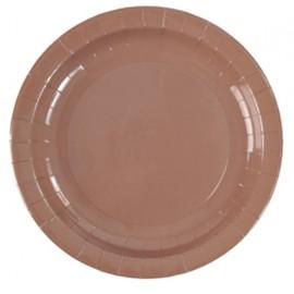 Assiettes carton chocolat 23 cm les 10