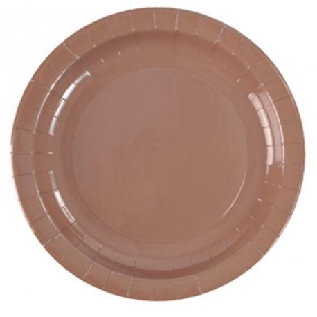 Assiette carton chocolat 23 cm les 10