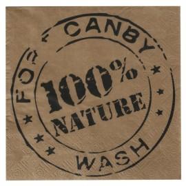 Serviette de table kraft 100% nature papier les 20