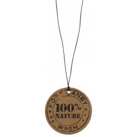 Etiquettes kraft 100% nature avec cordon les 12