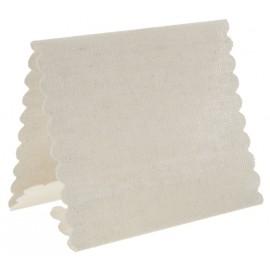 Marque-place tissu en coton ivoire les 4