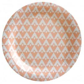 Assiette carton vintage corail 22.5 cm les 10