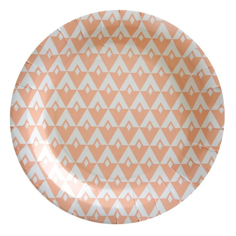 assiettes carton vintage corail les 10 assiettes carton. Black Bedroom Furniture Sets. Home Design Ideas
