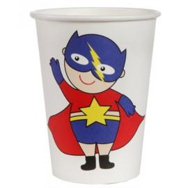 Gobelet carton super héros boy les 10
