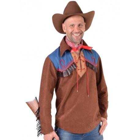 Déguisement chemise cowboy homme luxe