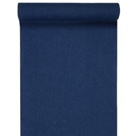 Chemin de table coton jean bleu 3 M